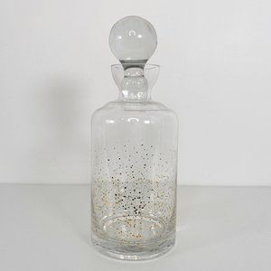 Modern Gold Speckled Glass Decanter with Stopper